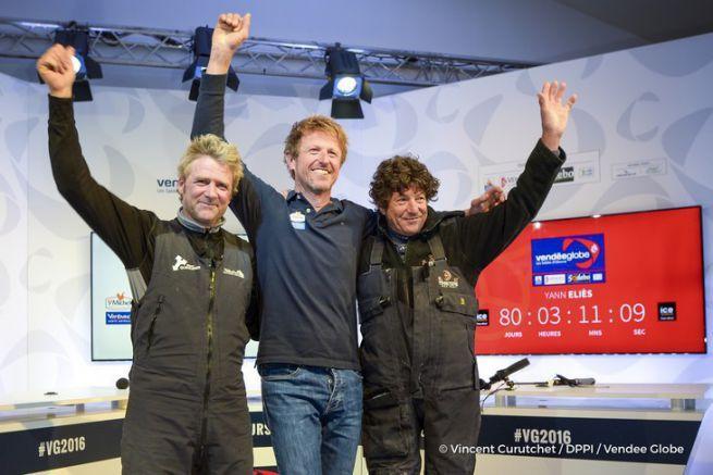 Yann Eliès, Jean-Pierre Dick et Jean Le Cam