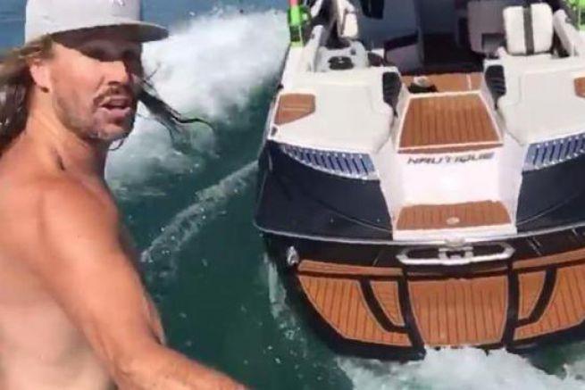 Oliver Lawson en wakesurfing
