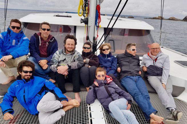 L'équipage de Bateaux.com presque au complet