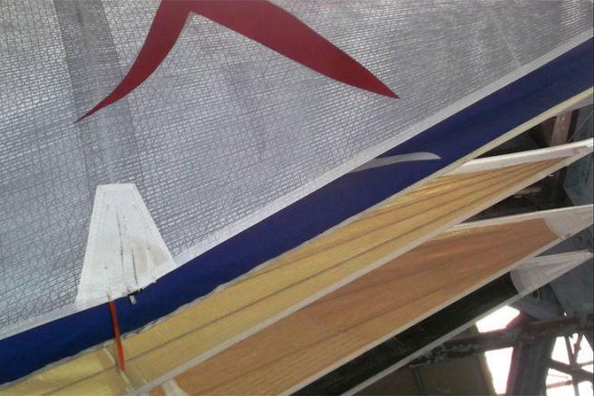 Voiles en train de sécher chez White Sails