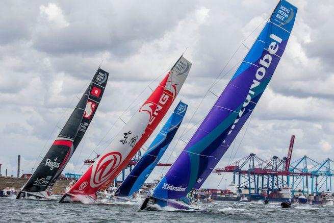 Départ de la 11e étape de la Volvo Ocean Race 2018