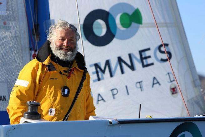 Yvan Bourgnon à son arrivée à Nuuk